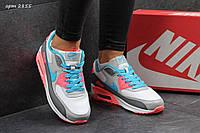 Кроссовки Nike Air Max женские, серые, с розовыми вставками