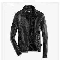 Мужская кожаная демисезонная куртка. Модель 6309