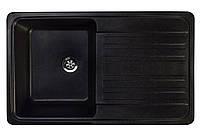 Кухонная гранитная мойка 76*46 см Valetti черная серия Standart модель №17