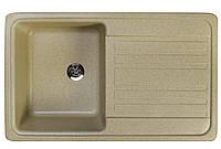 Кухонная гранитная мойка 76*46 см Valetti цвет беж серия Standart модель №17