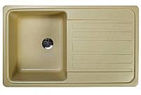 Кухонная гранитная мойка цвет старый камень 76*46 см Valetti серия Standart модель №17