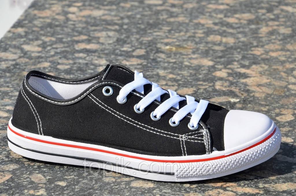 Кеды мужские цвет черный популярные, стильные текстиль (Код: 824а)