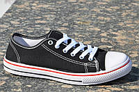 Кеды мужские цвет черный популярные, стильные текстиль (Код: 824а), фото 1