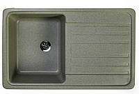Кухонная гранитная мойка цвет серый 76*46 см Valetti серия Standart модель №17