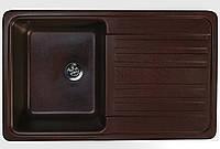 Кухонная мойка 76*46 см Valetti шоколад серия Standart модель №17