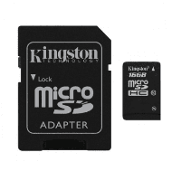 Карта памяти Kingston microSDHC 16GB Class 10 UHS-I R45/W10MB/s + SD адаптер