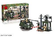 Конструктор BRICK 808 воен.зона с БТР 187 деталей кор. 28*4,5*17
