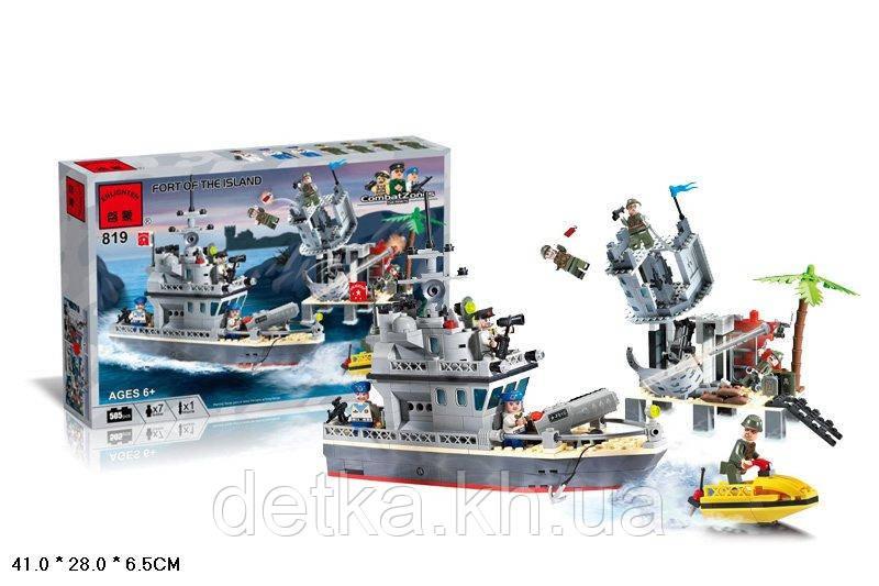 Конструктор Qman 819 військовий корабель/ катер берегової охорони 505 деталей
