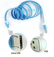 Плоский дата кабель micro USB 2.0 три метра FP