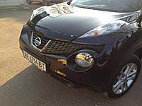Дефлектор капота EGR Nissan Juke 2010- темный