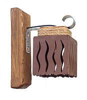 Светильник из дерева бра настенное  одинарное с одним деревянным плафоном