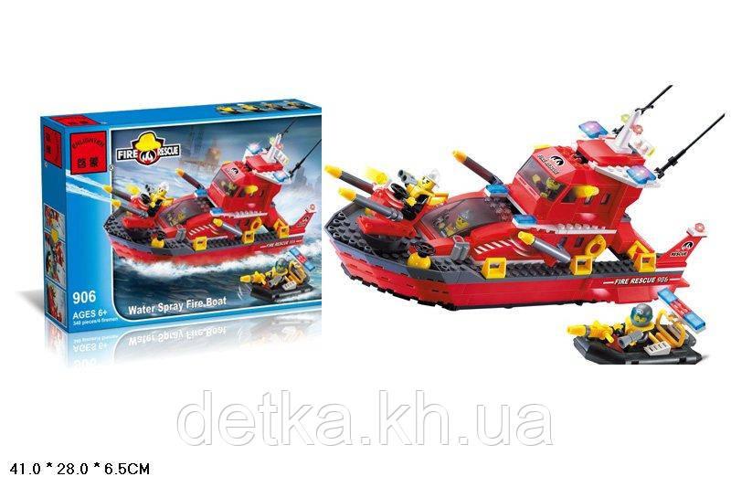 Конструктор BRICK 906 пожарные спасатели 339 деталей кор. 41*6,5*27,5