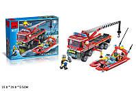 Конструктор BRICK 907 пожарные спасатели 417 деталей кор. 36,5*5,5*28,5