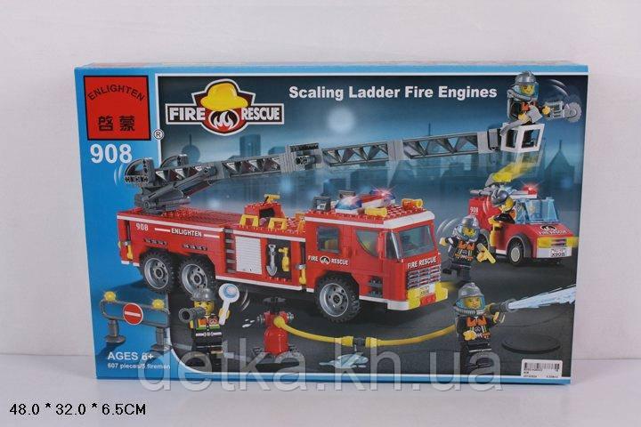 Конструктор Qman 908 пожарные спасатели 607 деталей