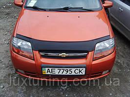 Дефлектор капота FLY Chevrolet Aveo T200 SD 04-05/HB 04-08