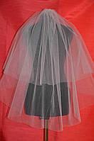 Обрезная свадебная фата sf-001