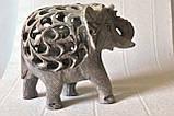 Слон ( в слоне) коллекционный  каменный резной (10,5х12,х6 см), фото 2