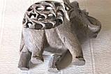 Слон ( в слоне) коллекционный  каменный резной (10,5х12,х6 см), фото 3