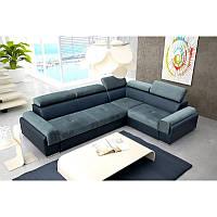 Угловой диван ENZO II со спальным местом и ящиком, PIASKI