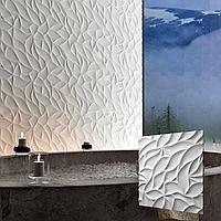 """Декоративна 3д панель """"Листя"""" для оздоблювальних робіт і для декорування стін 50x50"""