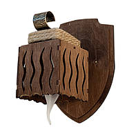 """Светильник из дерева 1 деревянный плафон серии """"Новый стиль"""" цвета натурального дерева в стиле """"Замковый лофт"""""""