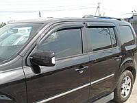 Дефлекторы окон SIM Honda Pilot 2008- (темный)