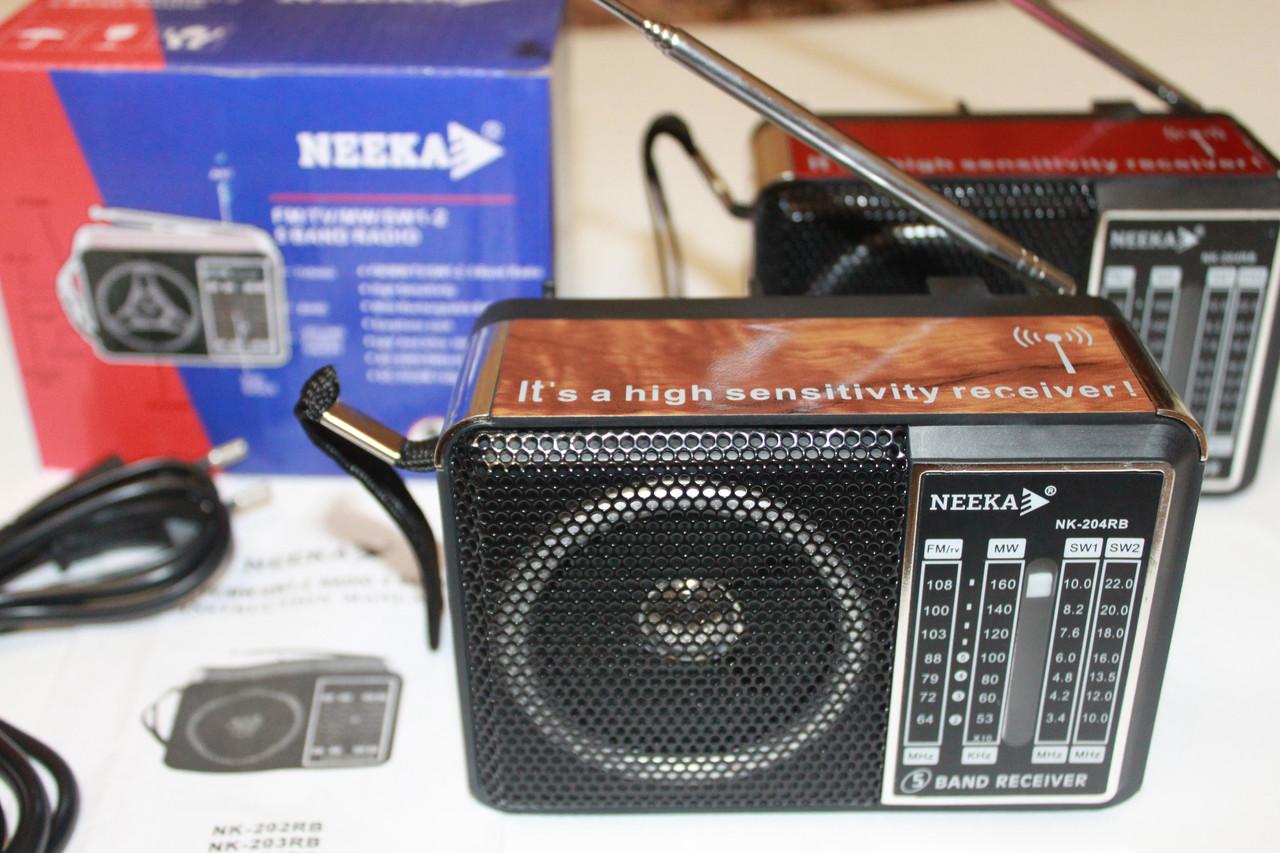 Радиоприёмник Neeka NK-204 RB