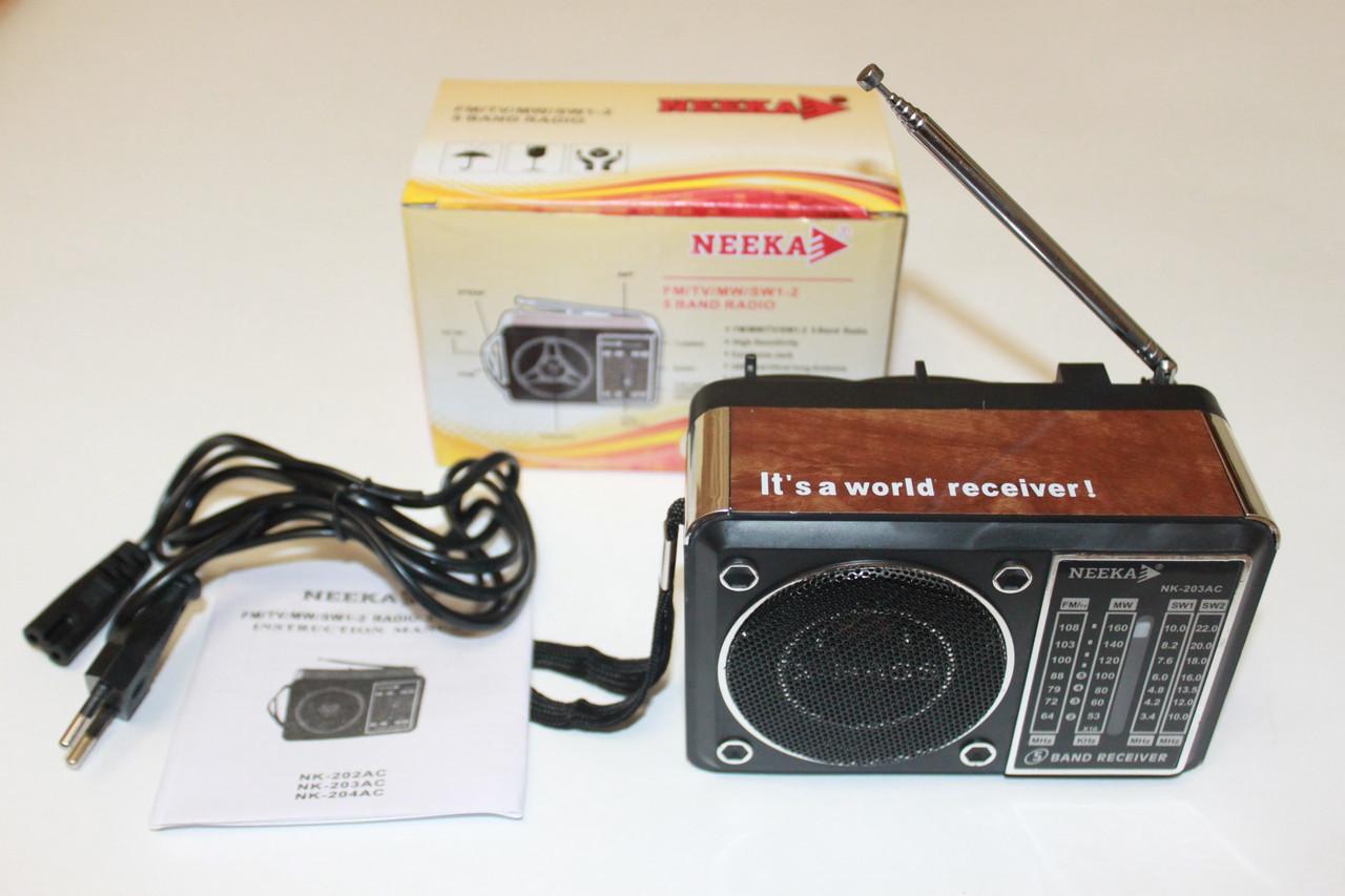 Радиоприёмник Neeka NK-203 AC