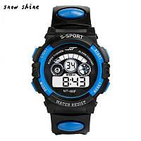Спортивные электронные наручные часы NT-Sport blue