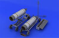 Смоляной набор: Авиационная пусковая установка ракетного вооружения B-8M1 и транспортная тележка