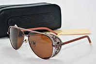 Солнцезащитные очки Chrome Hearts Monster коричневые