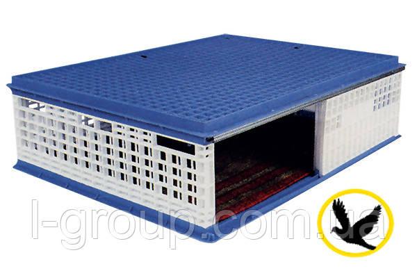 Ящик для перевозки голубей 1000x750x300 мм с раздвижной дверкой