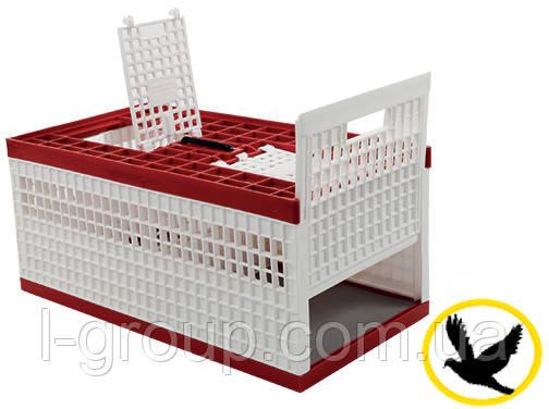 Ящик для транспортування голубів 610x315x270 мм з розсувними дверцями