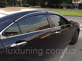 Дефлекторы окон с хром молдингом Lexus ES 2006-2011