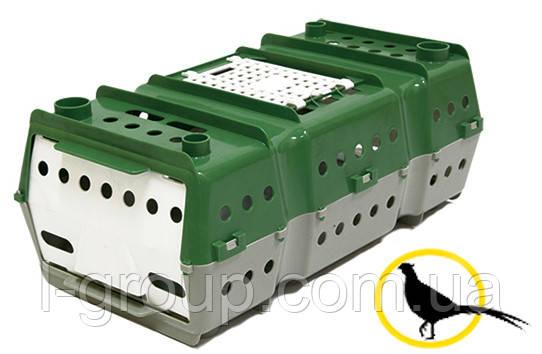 Ящик для перевезення птиці 650x360x250 мм з лючком для завантаження