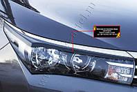 Накладки на передние фары (реснички) Toyota Corolla (седан) 2012-2015 г.в. (Тойота Королла)