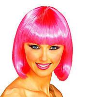 Парик каре розовый 35 см