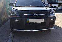Защита переднего бампера Hyundai Tucson 2004-2014 (одинарный ус) d 60