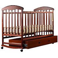 Детская кроватка Наталка с ящиком Ольха Тонированная