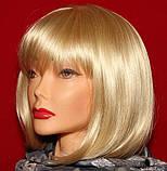 Парик каре блонд с челкой 35 см, фото 3