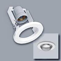 Светильник потолочный врезной R-63  белый, хром, золото е27