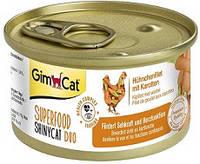 G-414508 GimCat Superfood ShinyCat Duo Консервы курица с морковью, 70 гр