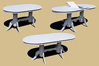 Обеденный стол раскладной овальный белый 3602-3. Купить Обеденный стол по лучшей цене Белый стол