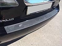 Накладка на задний бампер с загибом Lexus RX 2009-2015 пластик