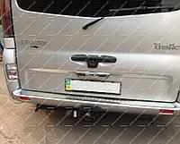 Накладка заднего бампера Nissan Primastar 2004-2014 (нержавеющая сталь)