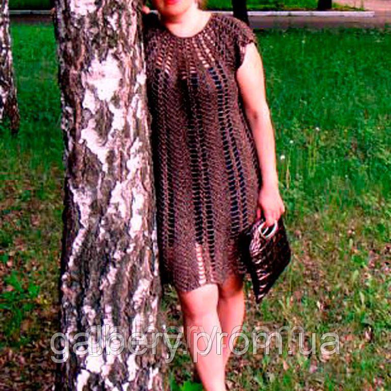 Вязаное крючком платье ручной работы