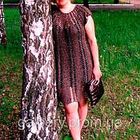 Красивое вязаное кружевное платье ручной работы