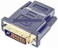 Адаптер HDMI Female  DVI Male (24+1) gold (3014.2)