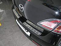 Накладка на задний бампер Mazda 6 2008-2012 (нержавеющая сталь)
