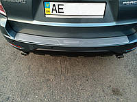 Накладка на задний бампер Subaru Forester 2008-2012 (нержавеющая сталь)